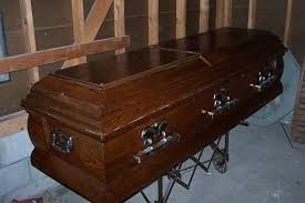Coffin sale stopped