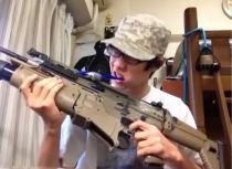 Gun with brush