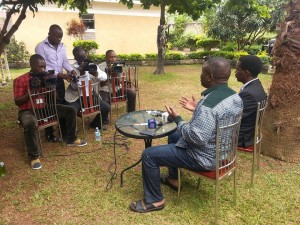 Lukwago addresse media at home
