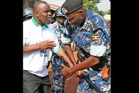 Lukwago being arrested