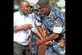 Lukwago being arrested