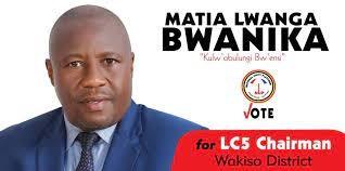 Ssentebe wa Disitulikiti yé Wakiso Lwanga Bwanika alayiziddwa