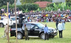 File Photo:Museveni nga yogeerako eri abantu