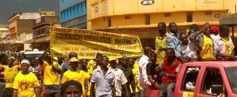 Abawagizi ba Museveni batubidde