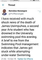 Omuyizi we Makerere afiridde mu kidiba