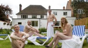 Nudist bar