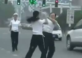 Officers fight