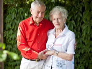 Old couple weds