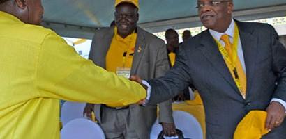 Abawagizi ba Mbabazi balwanye na Museveni