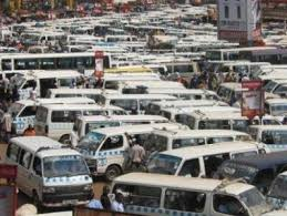 Taxis parked