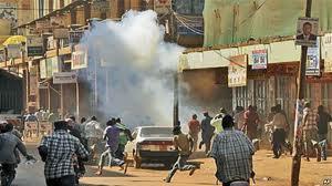 Teargas in Kla