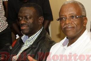 File Photo: Besigye ngali ne Mbabazi