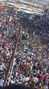 File Photo:Abawagizi ba Besigye nga bava e'Nambooze
