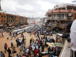 business stalls in city