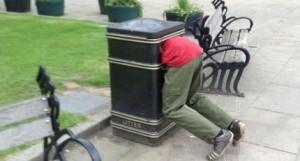 man in bin