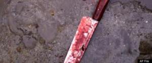 man stabs